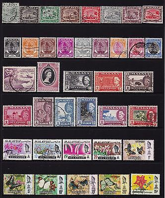 Federated Malay States Selangor Stamps all different