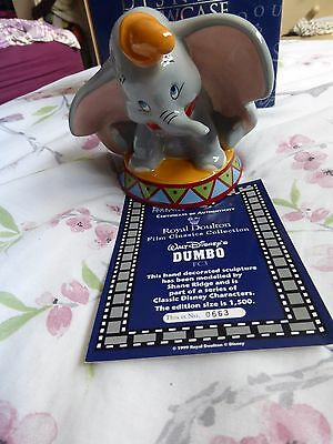 Royal Doulton Dumbo Disney Limited Edition Box And Certificate