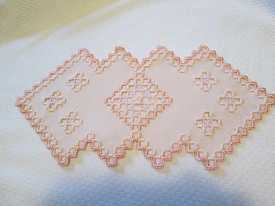 Hardanger Doily Norwegian Embroidery Cut Work  Bisque  New