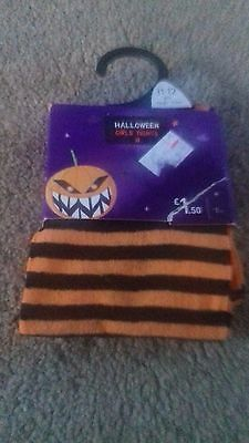 Brand New - Girls Halloween Tights - Age 11-12 Yrs