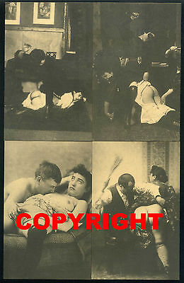 4 x VINTAGE FRENCH POSTCARD - Antique - Nude - Erotic - Female - Women - Sexy #3