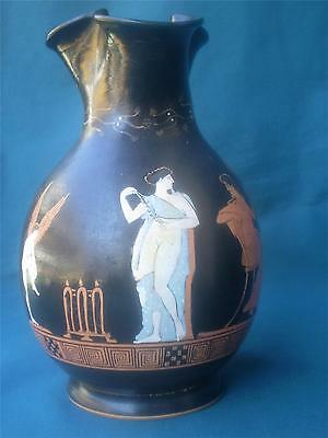 Ancient Greek Ceramic Copy N.Y. Museum Oinochoe 4th c. B.C. Dionysos Eros Signed