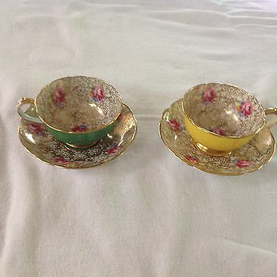 Paragon HM The Queen & Queen Mary Fine Bone China Cup And Saucer Set Of Two