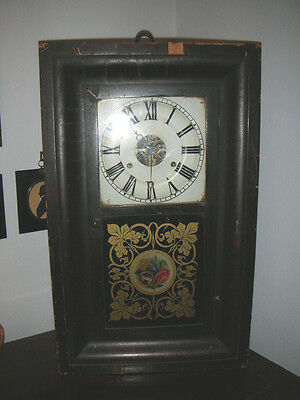 ANTIQUE 19th CENTURY AMERICAN SETH THOMAS WALL CLOCK AS FOUND.