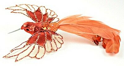 Realistic Peach Feather Hummingbird Thanksgiving Christmas Easter Ornament