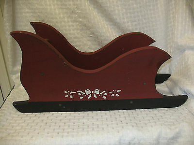 Vintage Christmas Sleigh Solid Wood Doll Size