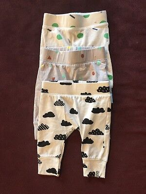 3 Pairs Unisex Pants Size 0-3 Months By Cotton On Baby
