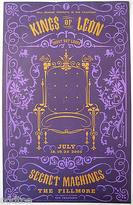 KINGS OF LEON- Orig. 2005 Concert Poster by Todd Slater, Fillmore F700 w/creases