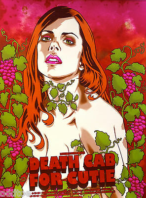 PeDEATH CAB FOR CUTIE, 2009 Tour Concert Poster signed by Brian Ewing, Cute BABE