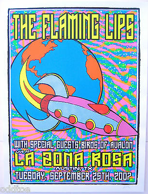 THE FLAMING LIPS- Original S/N 2007 Concert Poster by Lindsey Kuhn, Austin, TX