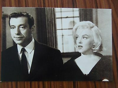 MARILYN MONROE POSTCARD looking at Yves Montand Let's Make Love 1960