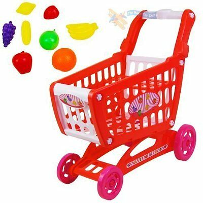 Childrens Pretend Shopping Trolley Roleplay Play Food Included Xmas Gift Bargain