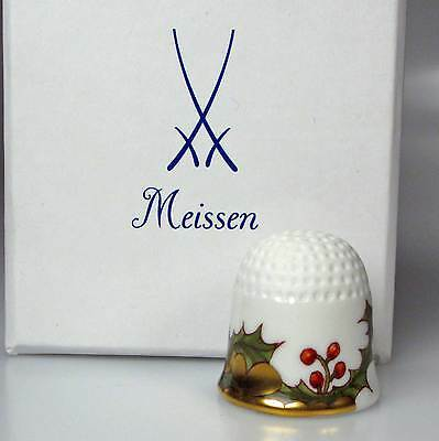 thimble porcelain holly flower Meissen handpainted Germany new