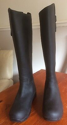 Toggi Calgary black 36 wide fit long leather riding boots