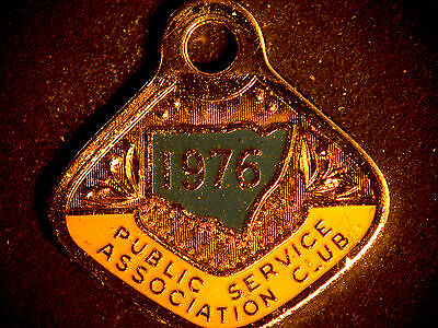 Vintage Public Service Association Club Member Badge 1976