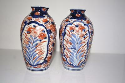 Antique Japanese Hand painted Porcelain  Imari vases x 2