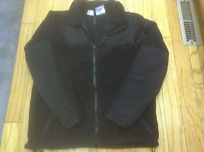 Mens Black Polartec Cold Weather Jacket size Small, synthetic Fleece