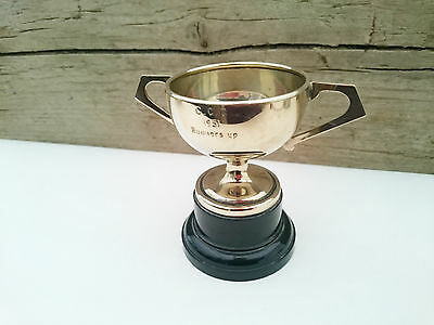 Silver Plated EPNS Cup Trophy Mid Century Vintage 1951 Runner Up Patent 432739