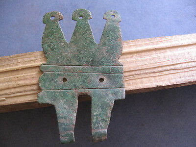 "Large ""fortress Shaped"" Amulet Ancient Celtic Magic Pendant 600-400 B.c."