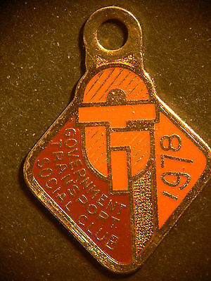 Vintage Government Transport Social Club Member Badge 1978