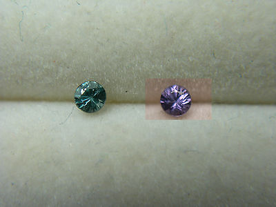Color Change Garnet Gem VERY RARE Green Purple Bekily Madagascar diamond cut