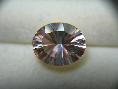 rare Morganite Fancy Concave Cut Oval gem Peach Pink Beryl gemstone