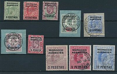 Morocco Agencies 1907 Set of 12 SG 112/23 very fine used / Marokko MiNr 23 - 32