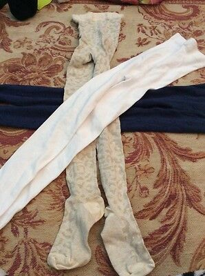 3 pairs girls winter tights age 9-10