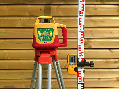 Recon. PLS HVR505R Red Beam Rotary Laser Level with Linestorm RLD-100 Detector