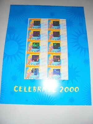 Celebrate 2000 10 mint stamps,