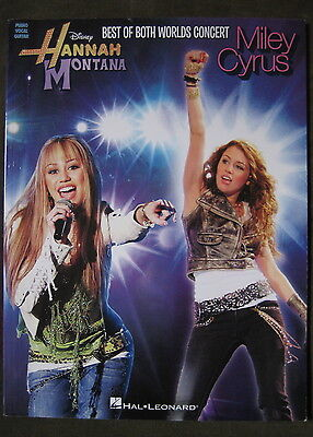 Disney HaNNaH MONTANA MiLeY CYRUS Best of Both Worlds Concert MuSiC SONGBOOK