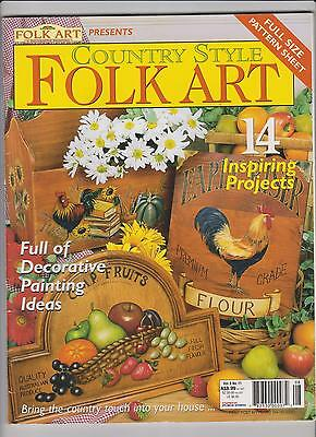 Country Style FOLK ART ~ Vol.9 no.11 ~ 2003 ~ 14 Projects ~ VGC