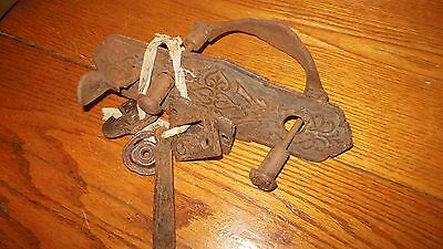 Vintage Cast Iron Door Hardware / Ornate Early Handle