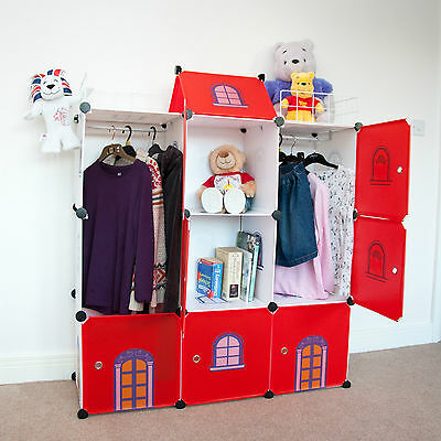 Castle Cubes - Kids Storage Boxes Wardrobe Toy Organizer Kids Tidy Chest Drawers