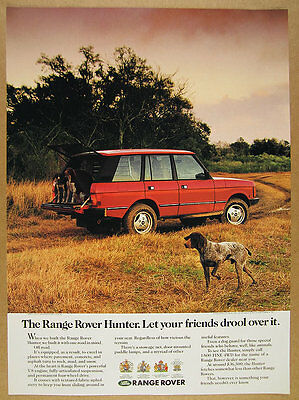 1991 Range Rover Hunter german shorthaired pointer dogs photo vintage print Ad