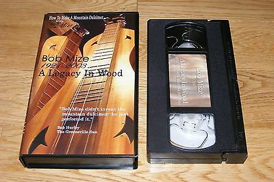 How To Make A Mountain Dulcimer Bob Mize Wood Musical Instrument Appalachian VHS