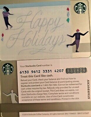 New 2016 Starbucks Christmas Card With Gift Card No Value
