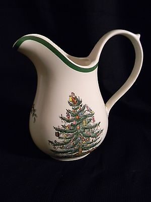 Spode Christmas Tree Water Pitcher with Green Trim pre-owned condition