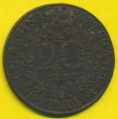 Azores  20 Reis  1795  VF+  rare in this condition