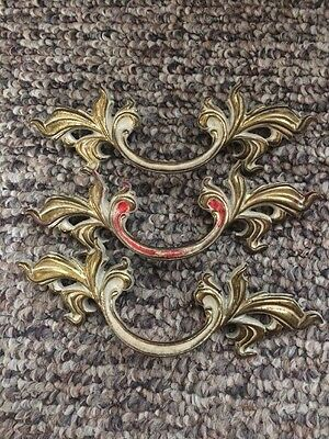 3 Vintage Drawer Pulls 6 Inches