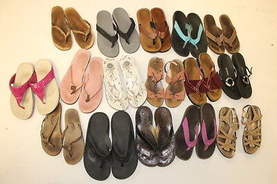 USED Rehab / Resale Lot Sandals Shoes Wholesale Olukai Tory Burch Rainbow cHsE