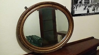 Antique bevelled mirror with Gilt frame , early 1900's