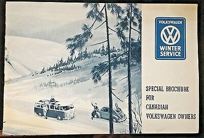 1959 Volkswagen Winter Service Manual for Canadian Owners Dealer