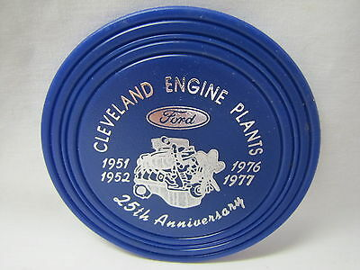 Vtg 1977 Ford Cleveland Engine Plants Ohio 25th Anniversary Souvenir Coaster