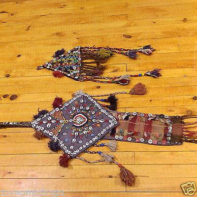 Two  Stunning Antique 1900-1930s Tribal Family Protectors Against Evil Eye