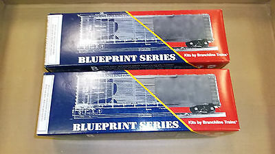 HO Branchline Trains BLUEPRINT SERIES - Lot of 2 50' Boxcars  2004 Lehigh Valley