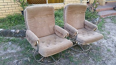 REDUCED!! Pair of Vintage Retro Danish Swivel Lounge Chairs