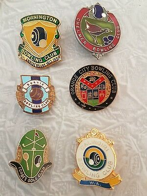 6× Bowling Club Badges