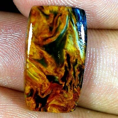 10.80Cts. 100% NATURAL GOLDEN PIETERSITE CUSHION CABOCHON FINE QUALITY GEMSTONES