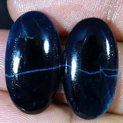 27.45Cts. 100% Natural Pietersite Oval Cabochon Rare Matched Pair Loose Gemstone